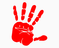 HD Red Stop Realistic Hand Silhouette Icon Symbol PNG   Citypng